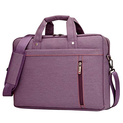 BOTRE Donne Uomo Borsa per Laptop in Nylon Borsa a Tracolla Della Borsa Asciugamano Borsa da Viaggio per Documenti 15.6 17.3pollici Laptop Macbook air Tablet (Viola, 17.3Pollici)