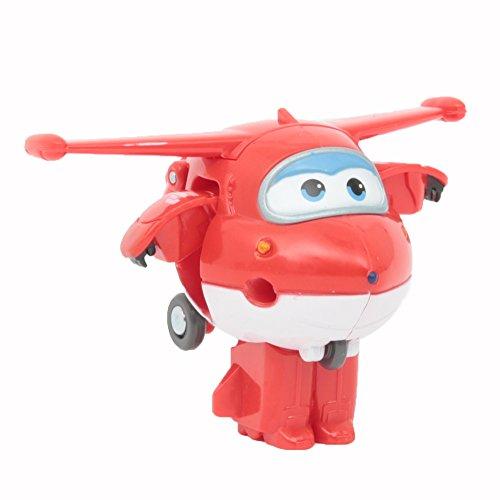 Giochi Preziosi Super Wings Veicolo, Robot trasformabile con Personaggio Jett, UPW81300