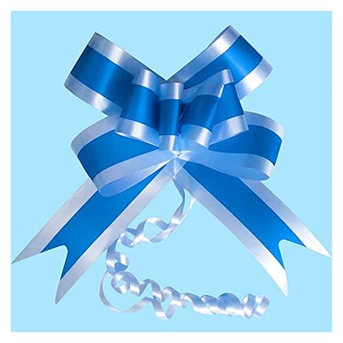 XKMY Arcos de regalo para envolver regalos, 20 unidades por lote, lazo de organza azul rosa para bodas, centros de mesa, decoración de coche, embalaje de regalo (color azul)