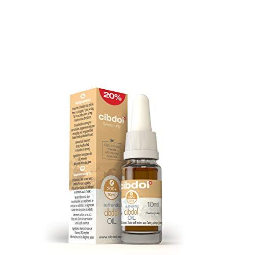 Gotas de Aceite de Cáñamo 20% (2000mg) Espectro Completo - Cibdol Aceite de Semillas de Cáñamo - Ayudan a reducir el estrés, la ansiedad y el dolor