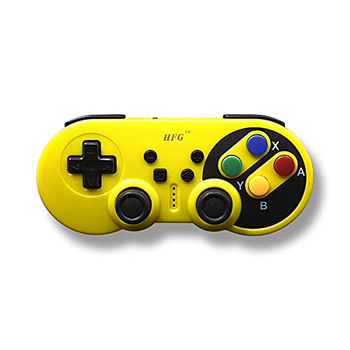 Comutador sem fio Pro Controller, YOOXI Switch Pro Controller para Nintendo Switch Controller/PC, 500mAh Switch Controller suporta ajuste de vibração, sensor de 6 eixos do corpo. (Amarelo)