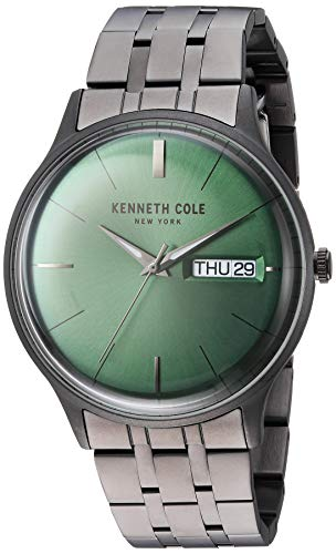 Kenneth Cole New York Men's CLASSIC Japanese-Quartz Watch with Stainless-Steel Strap, Grey, 19.7 (Model: KC50589018)