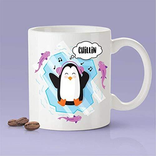 N\A Taza de café con Forma de pingüino de Chillin [Idea de Regalo - Es un Regalo Divertido - Regalo para Ella - Regalo para él]