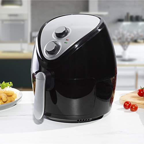 Cuisine King Friteuse électrique sans gras avec contrôle de la température Panier anti-adhésif Passe au lave-vaisselle 1300 W