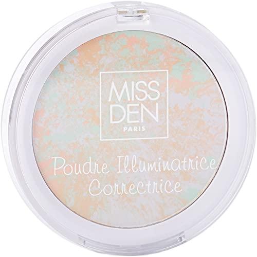 MISS DEN - Poudre Illuminatrice Correctrice Teint Parfait – Highlighter – Diminue Les...