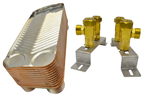 Nordic Tec Ba-16-22 - Intercambiador de calor (acero, 22 placas, 100 kW, 1