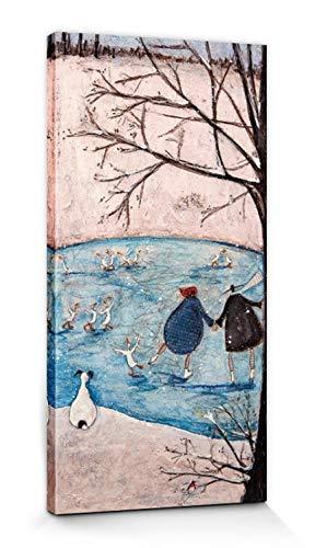 1art1 Sam Toft - Die Vier Jahreszeiten, Winter Bilder Leinwand-Bild Auf Keilrahmen | XXL-Wandbild Poster Kunstdruck Als Leinwandbild 60 x 30 cm