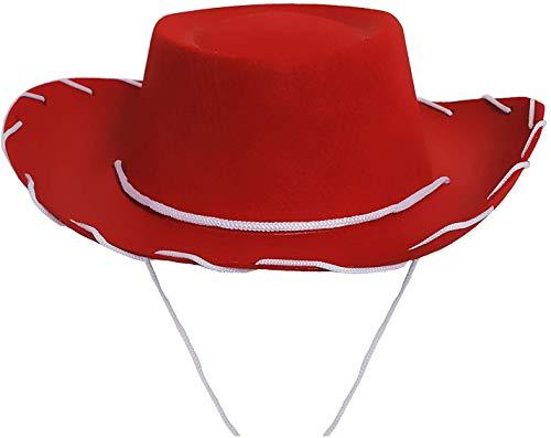 ILOVEFANCYDRESS Sombrero DE Vaquero Rojo para NIÑOS Accesorio para COSTUMA Disponible EN Diversos Paquetes