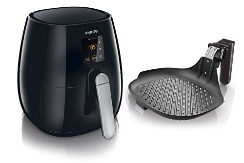 Philips Viva Collection HD9236/20 - Freidora (Freidora baja en grasa, 0,8 kg, Rapid Air, 60 min, Solo, Negro)