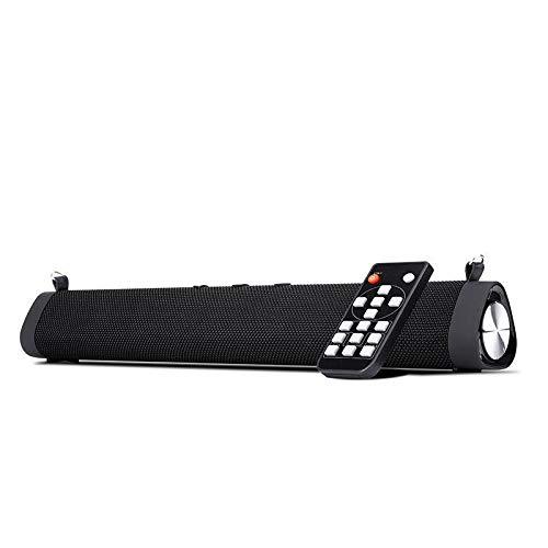 Y-hm Altavoz Bluetooth portátil con Estilo Perfec Cableado y sintonizador TV Barra de Sonido 16W Bluetooth 5.0 Altavoz Afuera de Escritorio portátil Echo Wall Audio subwoofer Support RCA AUX TF