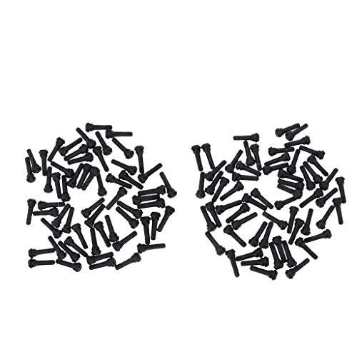 B Blesiya 200 piezas TR412 Snap en vástago de válvula de rueda de neumático, corto negro, kit universal