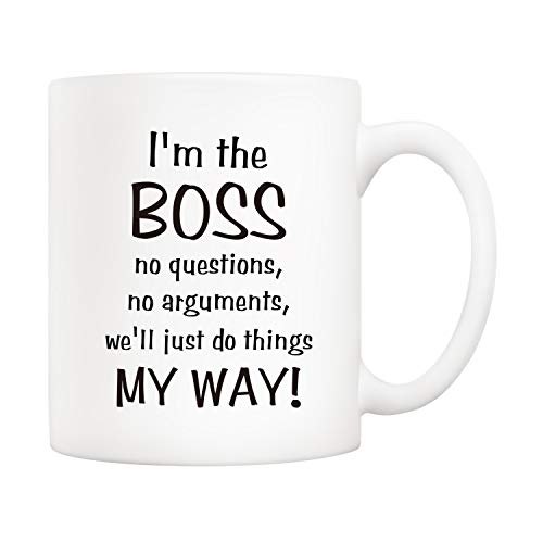 5Aup Bosses Day Funny Boss Office Coffee Mug Christmas Gifts from Co-worker Colleague, I'm the Boss. We'll Just Do Things My Way Cups 11 Oz, Birthday Present Idea for Male or Female Bosses Coworkers