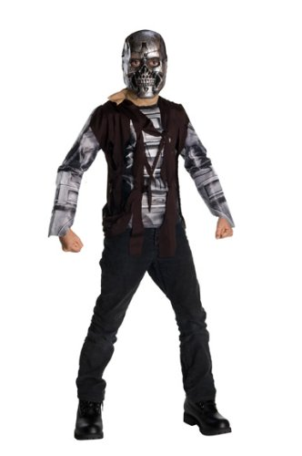 Terminator - Disfraz T600, para niños, talla M (Rubie's 883579-M)