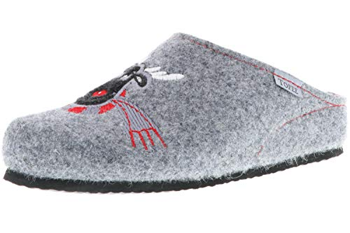TOFEE Damen Hausschuhe (Elchkopf) grau, Größe:42, Farbe:Grau
