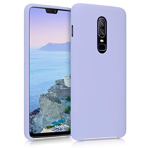 kwmobile Hülle kompatibel mit OnePlus 6 - Handyhülle gummiert - Handy Hülle in Pastell Lavendel