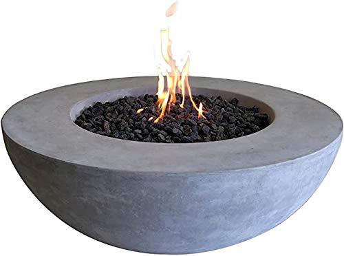 Lunar Bowl Natural Gas Cast Concrete Fire Pit by Elementi