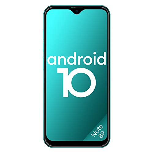 Ulefone Teléfono Móvil 2020, Note 8P Android 10 Smartphone Libre 16GB ROM (128GB SD), Pantalla 5.5' Water-Drop Screen Movil, 8MP 5MP, 2700mAh Batería, 3-Card Slot, GPS/WiFi/Hotspot-[Europea,Verde]