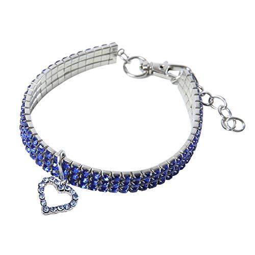 Yowablo Hundehalsung Hund Halskette Halsung Alu-Strong Würgehalsbänder Hundehalsband Kette Kettenwürger Schlupfhalsband (25cm,1Blau)