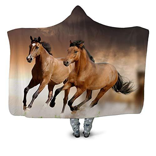 SHIQI Capa gruesa doble del casquillo de la banda de la impresión 3D, capa del mantón con capucha cutwear chal de la oficina del hogar de los niños