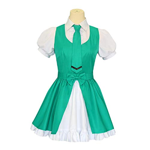 YYFS Game Anime Cosplay Disfraz, Anime Cosplay Uniform, Halloween Party, Vestido Verde,Clothing Suit -Large