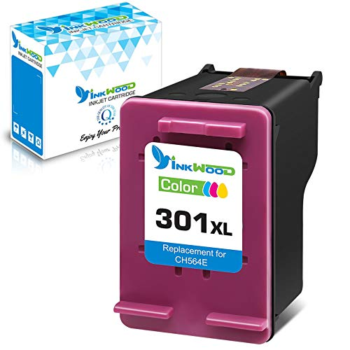 Inkwood Remanufactured 301XL Cartouche Encre 301 XL Couleur pour HP Officejet 2622 2620 4630 Deskjet 3050 3055 2540 2542 2050 2510 1000 1050 1050A 1510 1512 1514 Envy 5530 4500