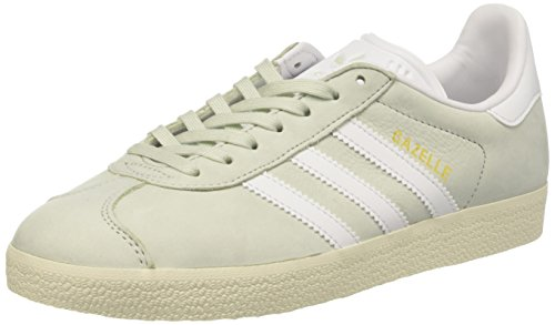 adidas adidas Damen Gazelle Sneakers, Grün (Linen Green/Footwear White/Cream White), 36 2/3 EU