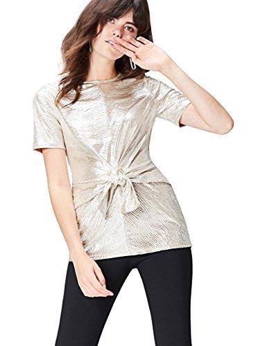 find. 40894 magliette donna, Oro (Champagne), 42 (Taglia Produttore: Small)