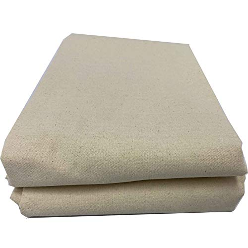 Mybecca 100% Cotton Muslin Fabric/Textile Unbleached, Draping Fabric Wide: 63 inch Natural 2-Yards (5.25 Feet x 6 Feet)(63' x 72')