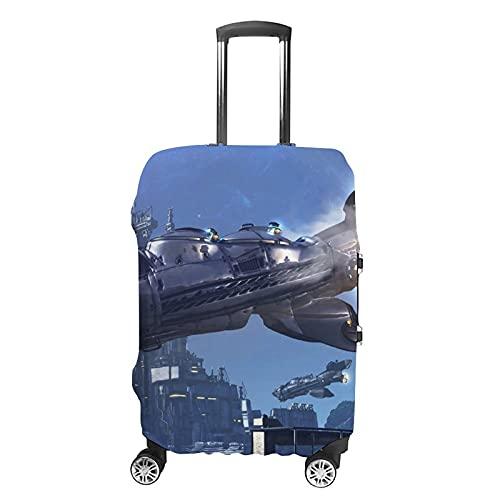 Science Fiction 3D-Muster Gepäckschutz Kofferabdeckung, Weiß - Science Fiction1 (Weiß) - GH1888