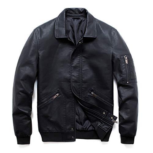 Heren zwart motorjack mannen motorkleding racing biker coats slimfit casual biker jack