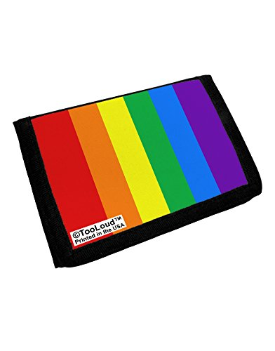 TooLoud Rainbow Vertical Gay Pride Flag Trifold Wallet All Over Print