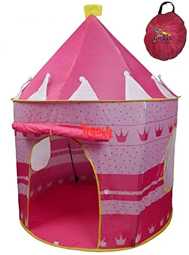Hygrad Pink Pop up Portable Foldable Play Tent Castle Playhouse Kids Girls Children Outdoor/Indoor Games 135 x 105 cms
