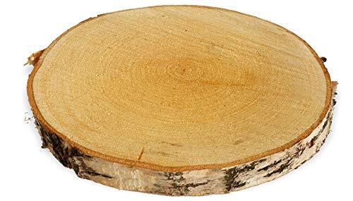 matches21 Fette di Legno di Betulla Vero Legno di Betulla Fette di Legno di Albero Betulla di Legno Deco Fai da Te - 1 STK 25-30 cm - Molte Dimensioni