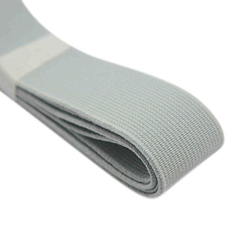 iCraft 1-Inch Wide by 3-Yard Colored Elastic Band,Grey 72080