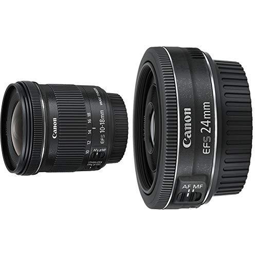 Canon EF-S 10-18mm 1:4.5-5.6 IS STM Objektiv schwarz &  EF-S 24 mm 1:2.8 STM Objektiv schwarz