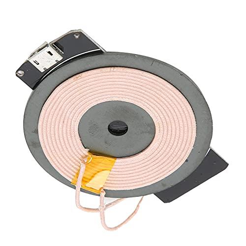 Crisist Cargador inalámbrico Qi, módulo Cargador inalámbrico Kit de Fuente de alimentación más rápido Múltiples Medidas de protección Estándar Qi con indicación de luz LED para Cargar