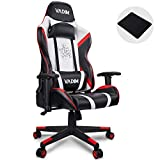 VADIM Gaming Stuhl Racing Bürostuhl,150kg Belastbarkeit, Kopfkissen und Rückenpolster im...