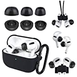 AirPods Pro Case Kit [AirPods Pro Ear Tips] [AirPods Pro Ear Hooks] [Airpods Pro Holder] [AirPods Pro Magnetic Anti-Lost Strap] for Apple AirPods Pro (Black Kiit)