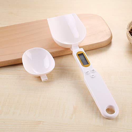 BIBOKO Cuchara de cocina digital de gramos, taza electrónica de alta precisión para servir té, harina, especias, medicina