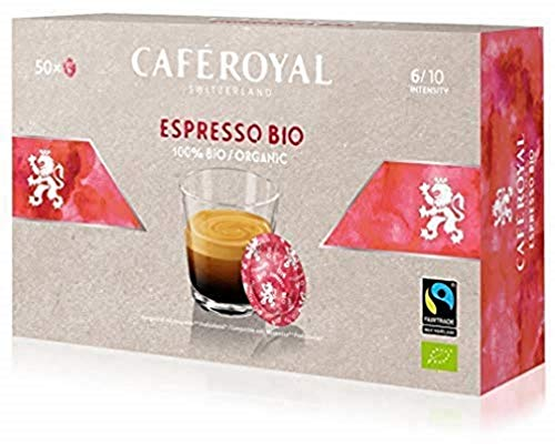 Café Royal Espresso Bio 50 Nespresso (R)* Pro kompatible Kapseln - Kompatible Kaffeepads für Nespresso (R)* Business Solution Maschine - Intensität 6/10