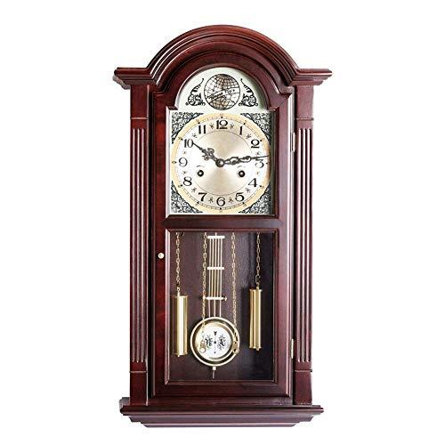 Yongenee Colgante de Madera Reloj Reloj Retro Mute Reloj de Pared de números Grandes for no Ticking for la Seguridad del...