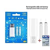 色変更可能なフロートLEDの光の発光の自動咬合警報スマートフロート+ 1スペースBean + 1本の充電式電池+フロートホルダー (色 : Rechargebattery1set)