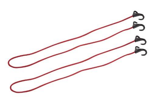 『キャプテンスタッグ キャリー用フック付コード 150cm 2個セット 【Amazon.co.jp限定】 U レッド UZ-13030』の1枚目の画像