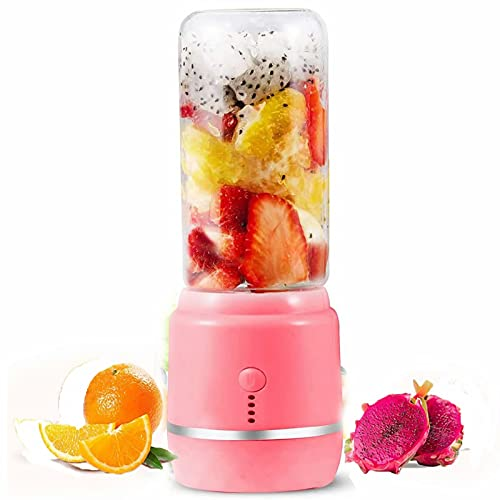 Personal Blender 14 Oz/420ml Electric Juicer Portable Fruit Blender for Smoothies & Shakes with USB Rechargeable & 6 Stainless Steel Blades for Home Office Gym Easy to clean & Anti-corrosion
