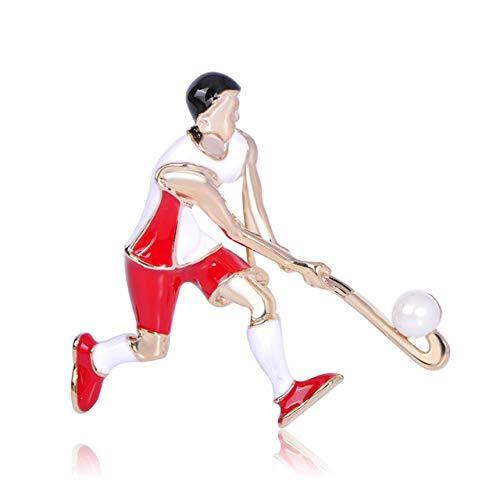 XZROOKEI Casual Playing Ball Figure Esmalte Broches Atleta Hombres Sudaderas con Capucha...