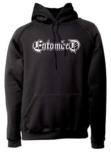LaMAGLIERIA Unisex-Hoodie Entombed - White Print - Kapuzenpullover Metal Rock Band, XL, schwarz