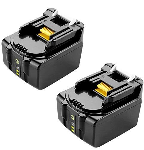 FengWings 2PCS Baterías BL1430B BL1430 14.4V 3000mAh Reemplace la batería de la herramienta por Makita BL1430 BL1415 BL1440 BL1415N 196875-4 194558-0 195444-8 196388-5 Batería con luz