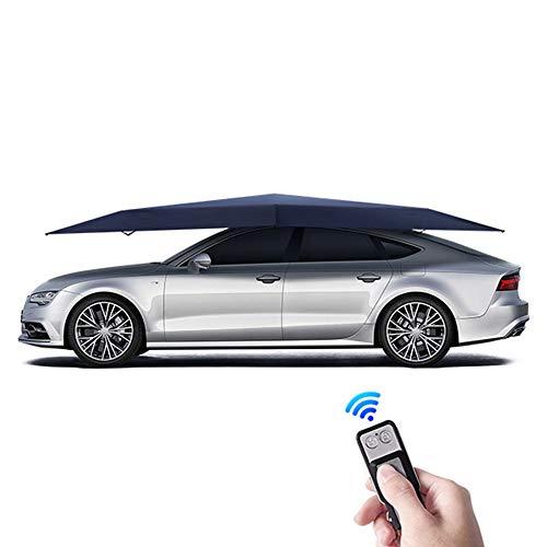 ZJY Automatisches Autozelt, klappbarer Ferngesteuerter Regenschirm, bewegliches Carport-Schutzdach - Anti-UV-Wasserschnee - für den Garagenparkplatz im Freien im Hinterhof