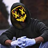Molbory LED Purge Maske, Halloween Maske, LED Purge Maske im Dunkeln Leuchtend, LED Grusel Maske,...