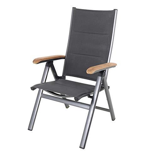 MWH - De originele klapstoel Core Renovo met aluminium frame en armleuningen van FSC®-teakhout